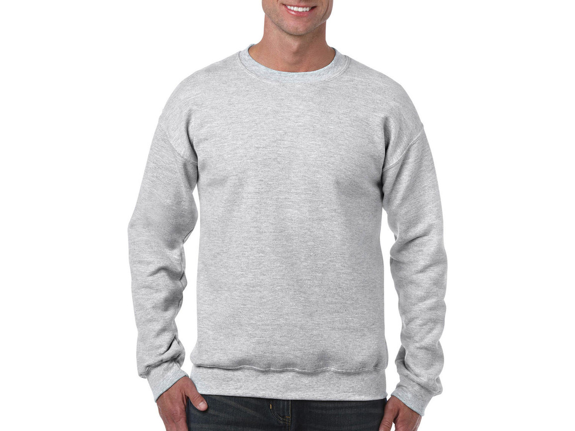 Gildan Heavy Blend Adult Crewneck Sweat, Ash Grey, L bedrucken, Art.-Nr. 238097035