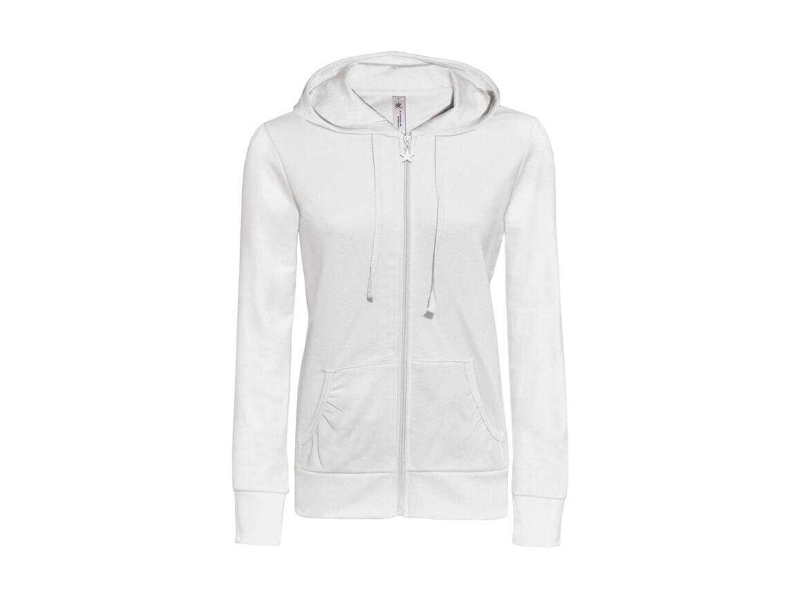 B & C Wonder/women Hooded Zip Sweat, White, 2XL bedrucken, Art.-Nr. 241420007