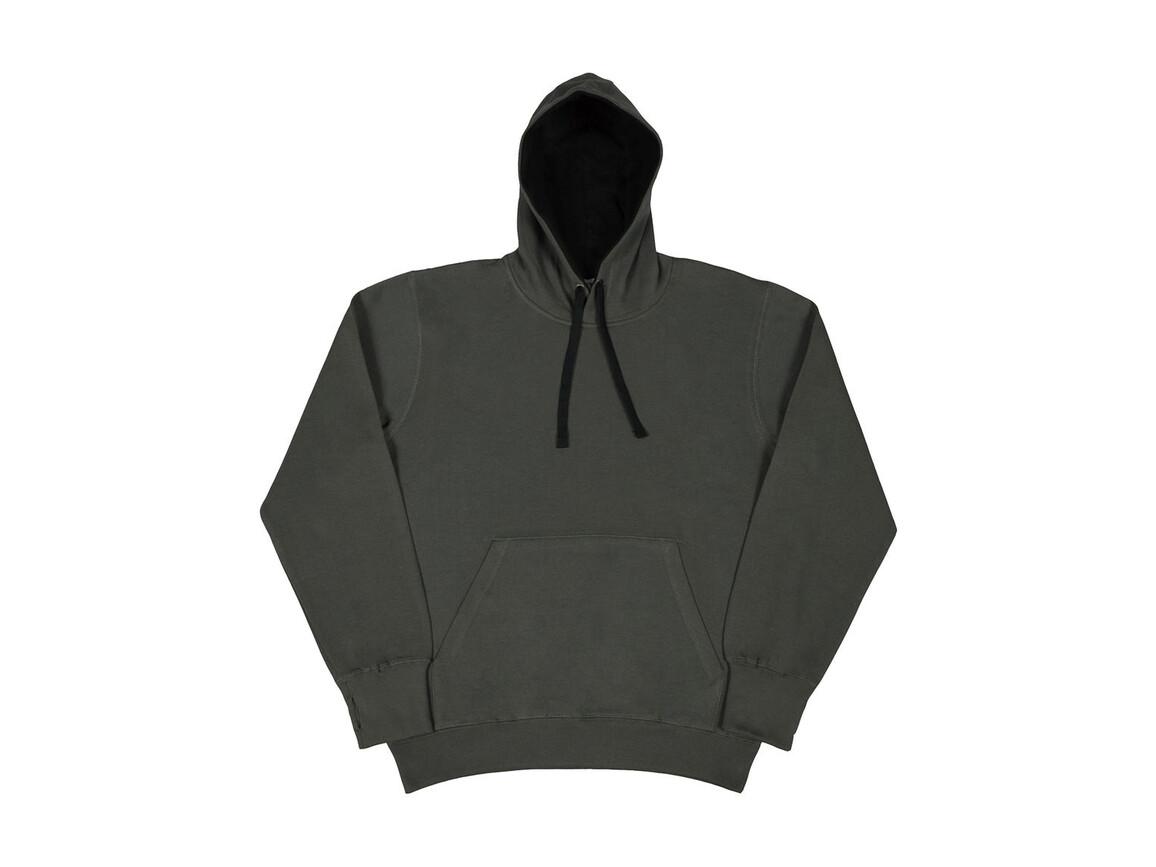 SG Contrast Hoodie, Grey/Black, 4XL bedrucken, Art.-Nr. 281521489
