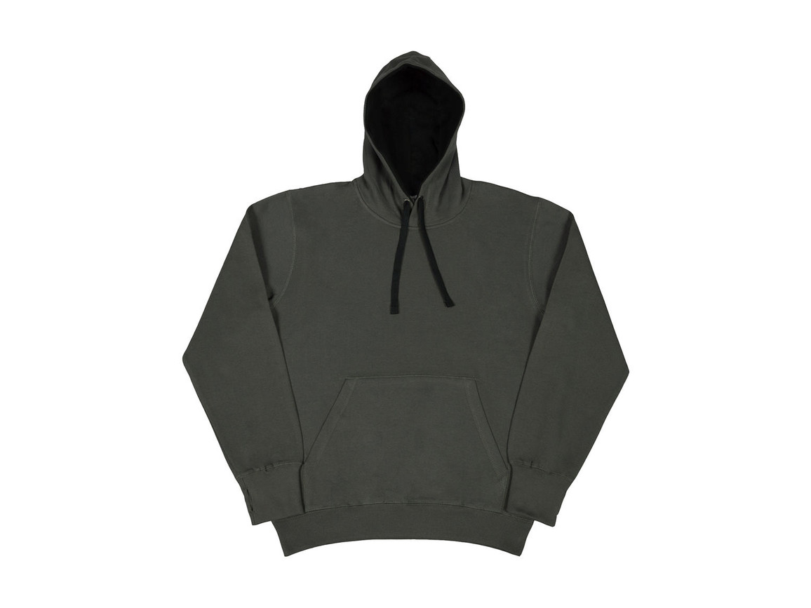 SG Contrast Hoodie, Grey/Black, XL bedrucken, Art.-Nr. 281521486