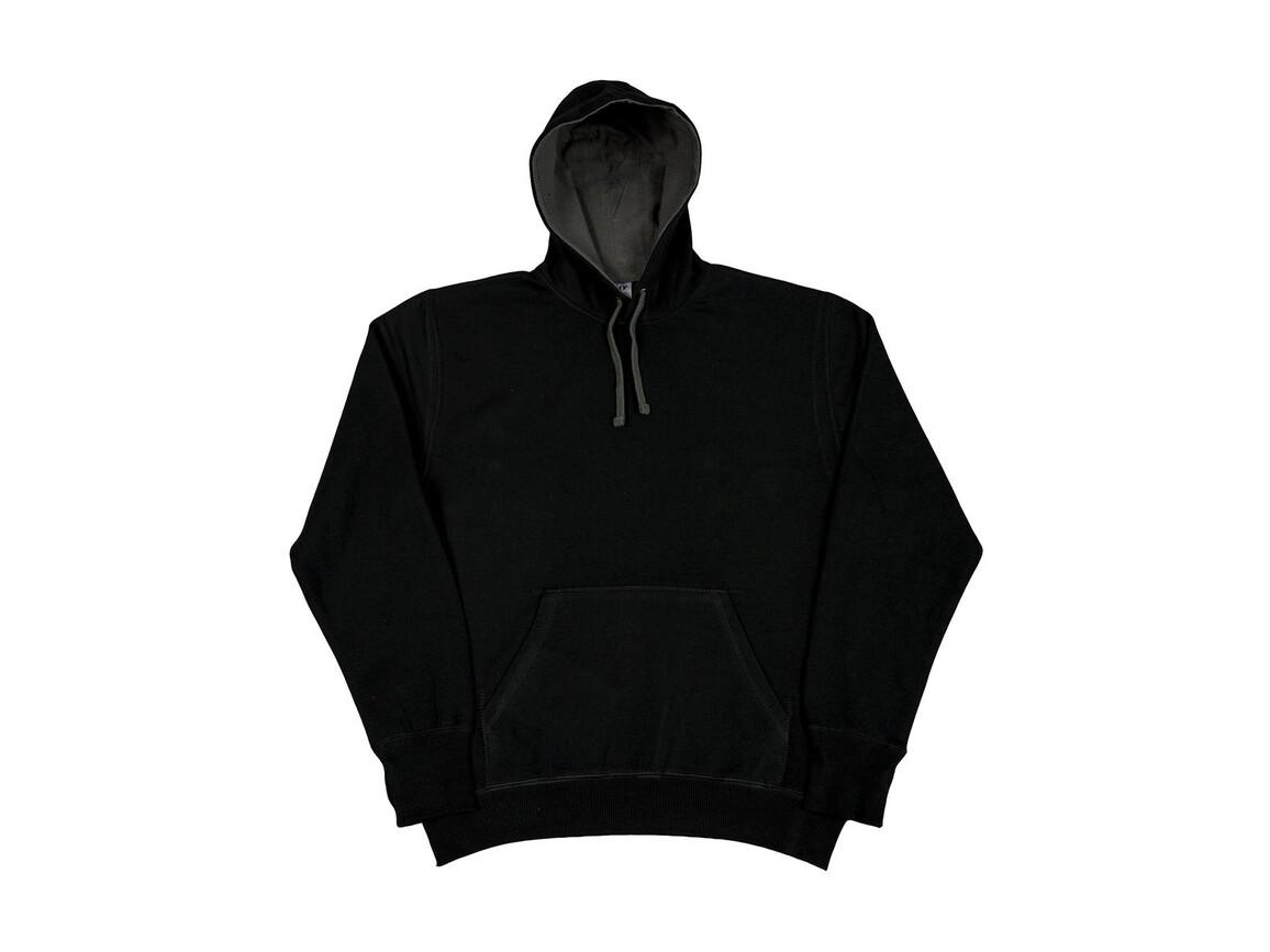 SG Contrast Hoodie, Black/Grey, M bedrucken, Art.-Nr. 281521514