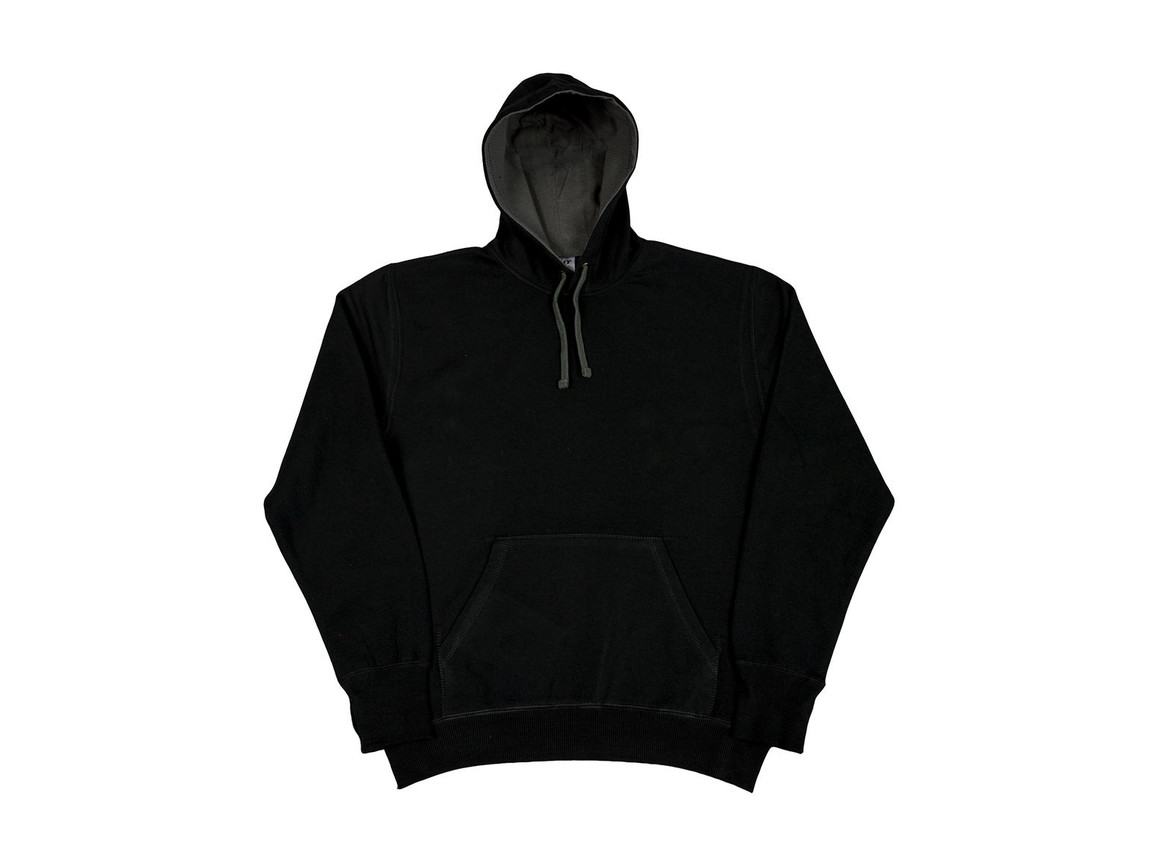 SG Contrast Hoodie, Black/Grey, XL bedrucken, Art.-Nr. 281521516