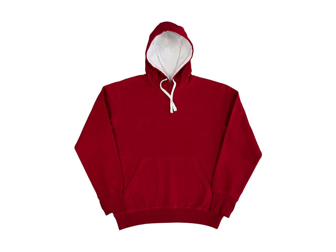 SG Contrast Hoodie, Red/White, 2XL bedrucken, Art.-Nr. 281524507