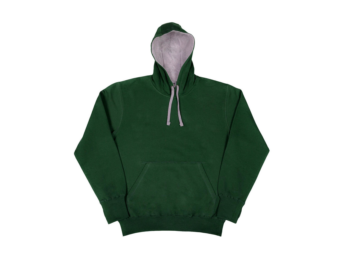 SG Contrast Hoodie, Bottle Green/Light Oxford, L bedrucken, Art.-Nr. 281525535