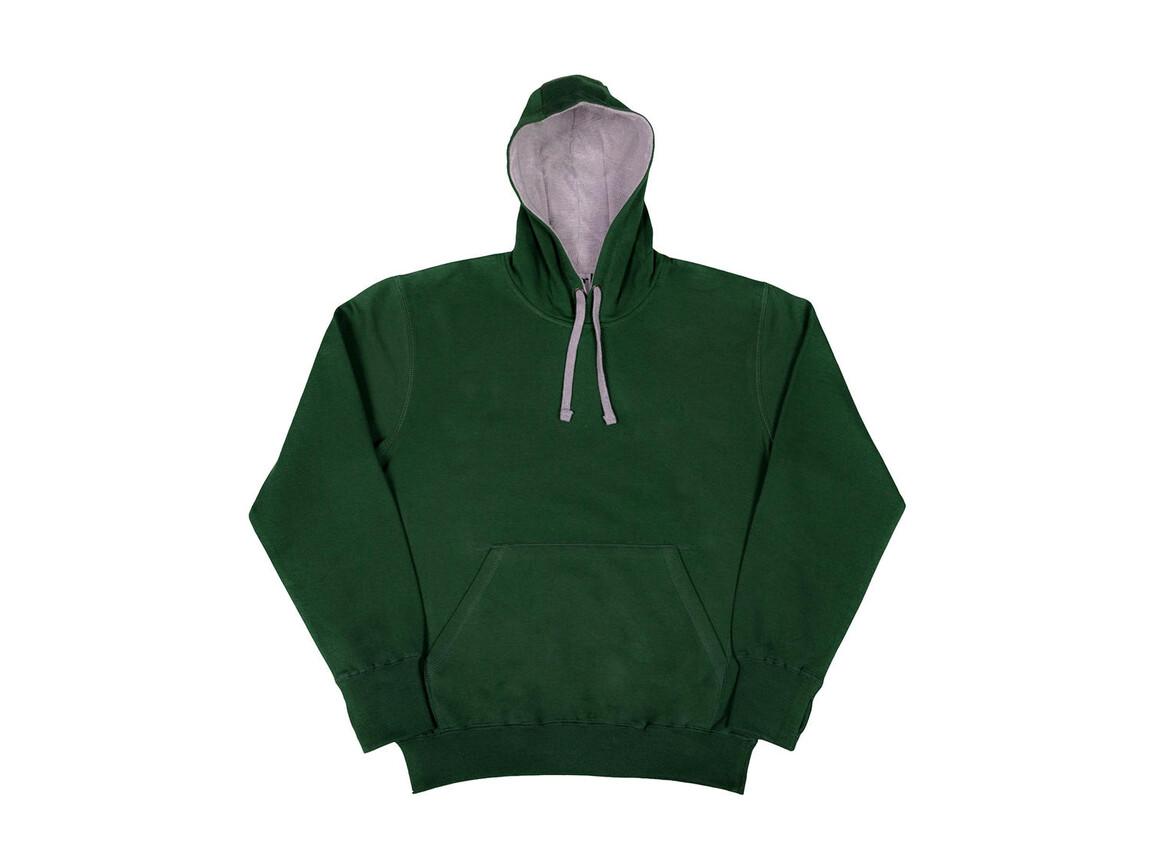 SG Contrast Hoodie, Bottle Green/Light Oxford, XL bedrucken, Art.-Nr. 281525536