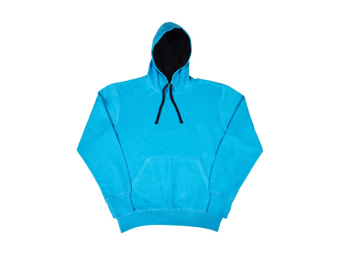 SG Contrast Hoodie, Turquoise/Navy, XL bedrucken, Art.-Nr. 281525666