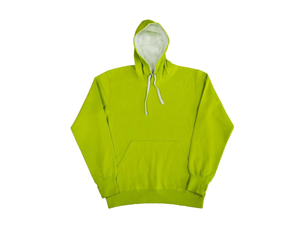SG Contrast Hoodie, Lime/White, L bedrucken, Art.-Nr. 281525755