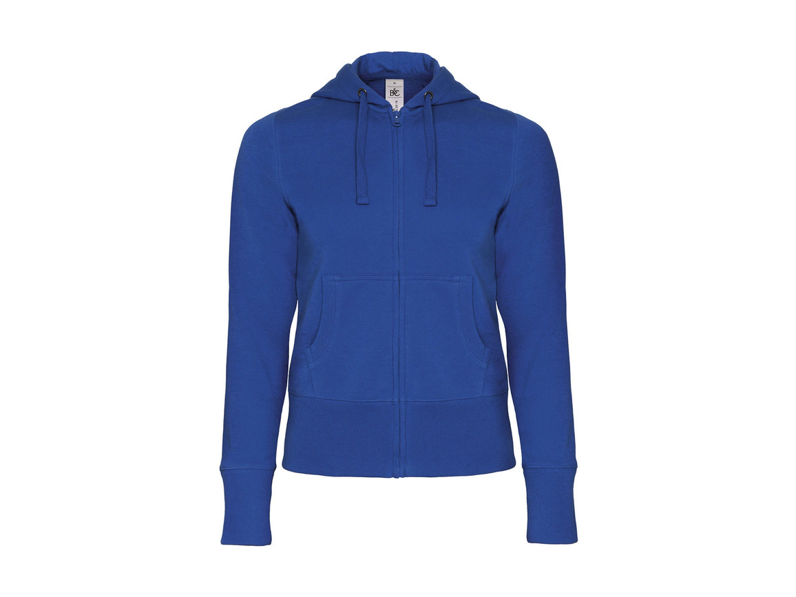 B & C Hooded Full Zip/women Sweat, Royal, L bedrucken, Art.-Nr. 283423005