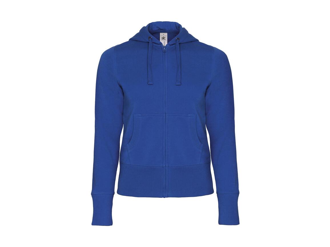 B & C Hooded Full Zip/women Sweat, Royal, XL bedrucken, Art.-Nr. 283423006