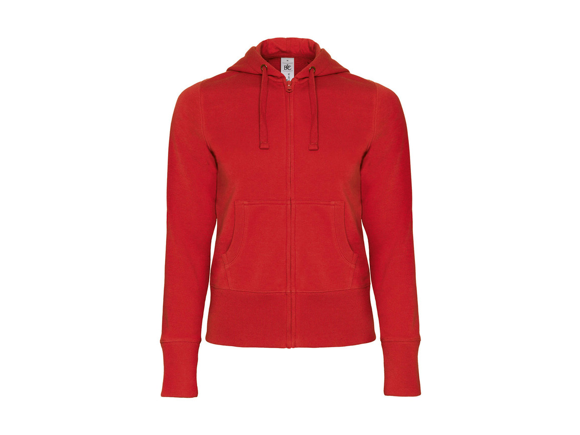 B & C Hooded Full Zip/women Sweat, Red, S bedrucken, Art.-Nr. 283424003