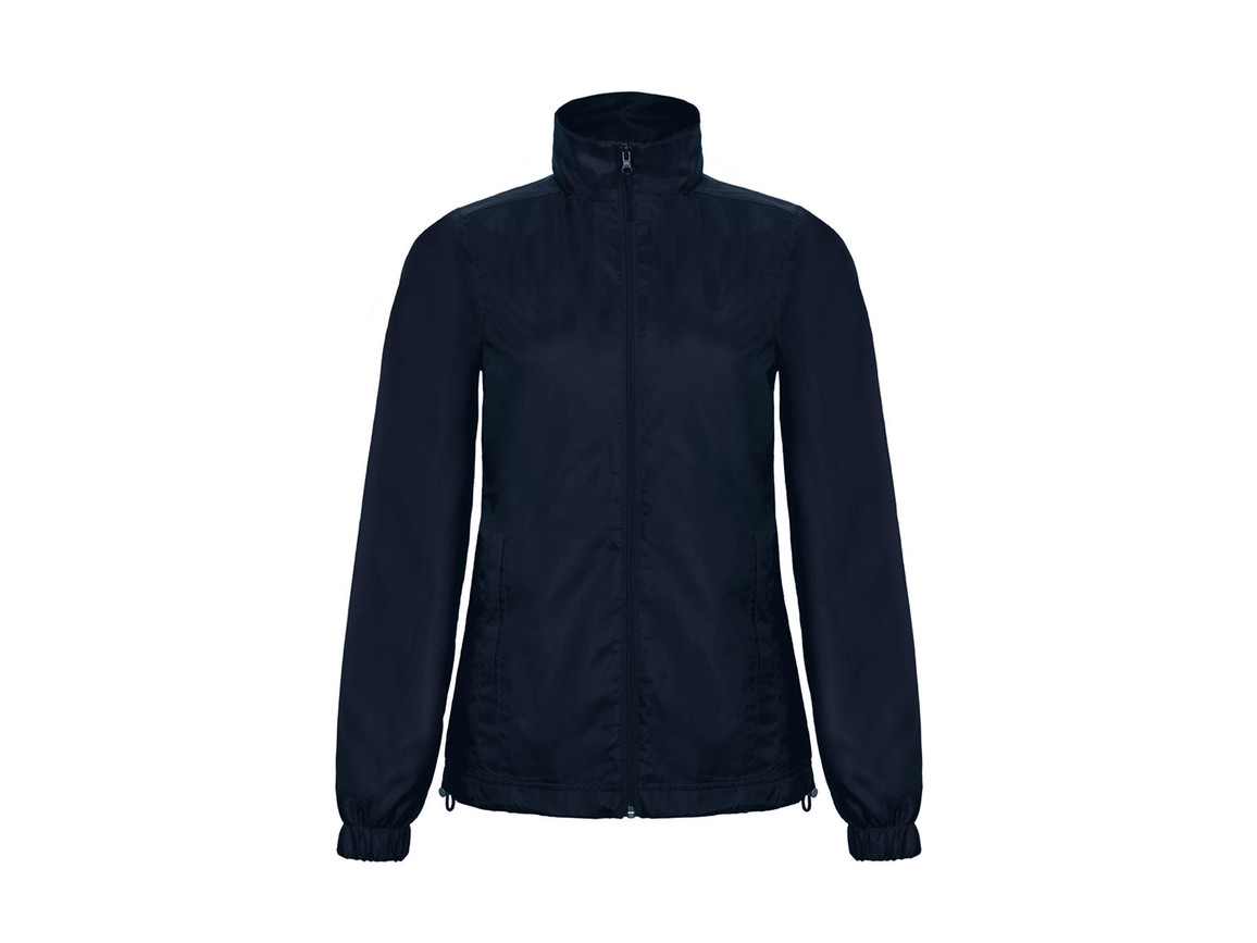 B & C ID.601/women Midseason Windbreaker, Navy, XS bedrucken, Art.-Nr. 406422002