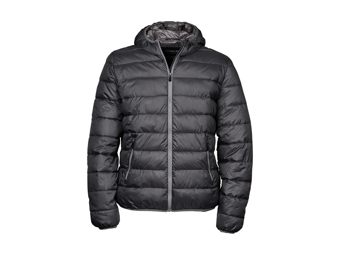 Tee Jays Hooded Zepelin Jacket, Space Grey/Grey, S bedrucken, Art.-Nr. 406541903