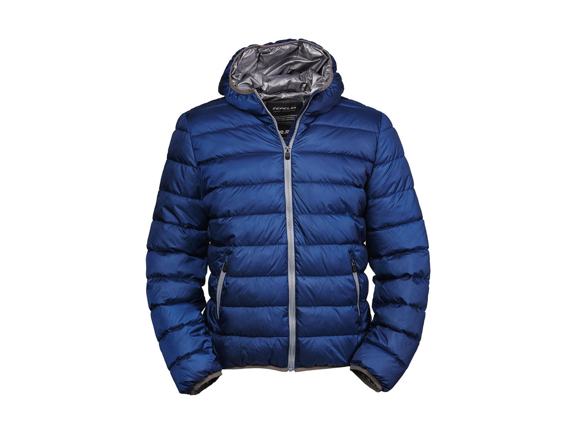 Tee Jays Hooded Zepelin Jacket, Navy/Grey, M bedrucken, Art.-Nr. 406542744