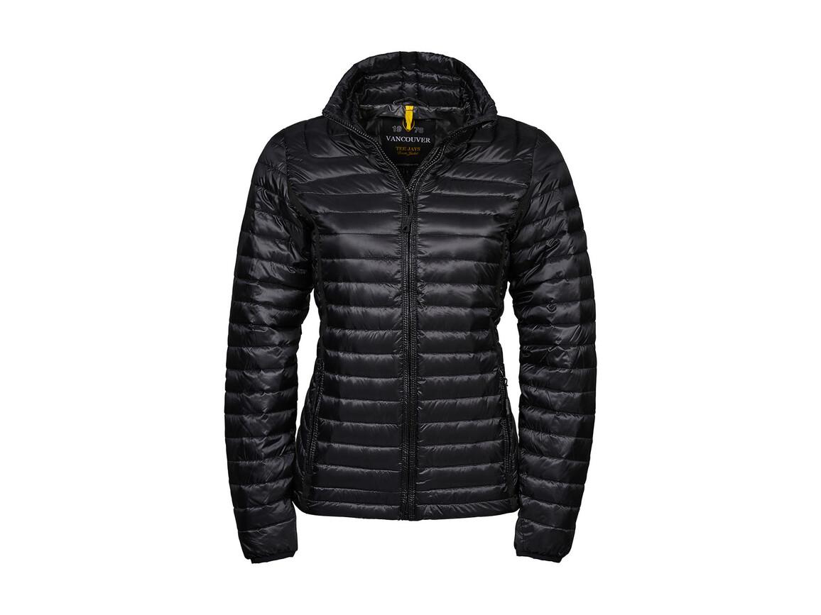 Tee Jays Ladies` Vancouver Down Jacket, Black, 2XL bedrucken, Art.-Nr. 409541017