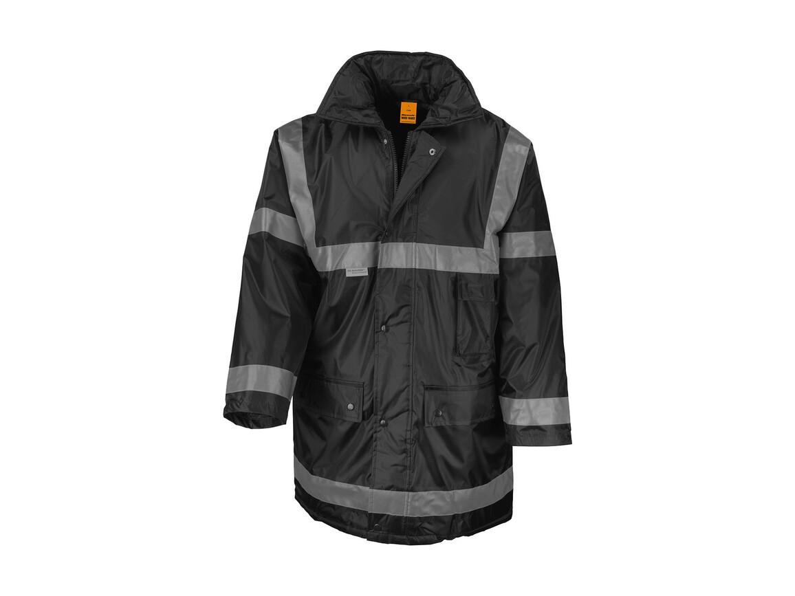 Result Management Coat, Black, L bedrucken, Art.-Nr. 410331015