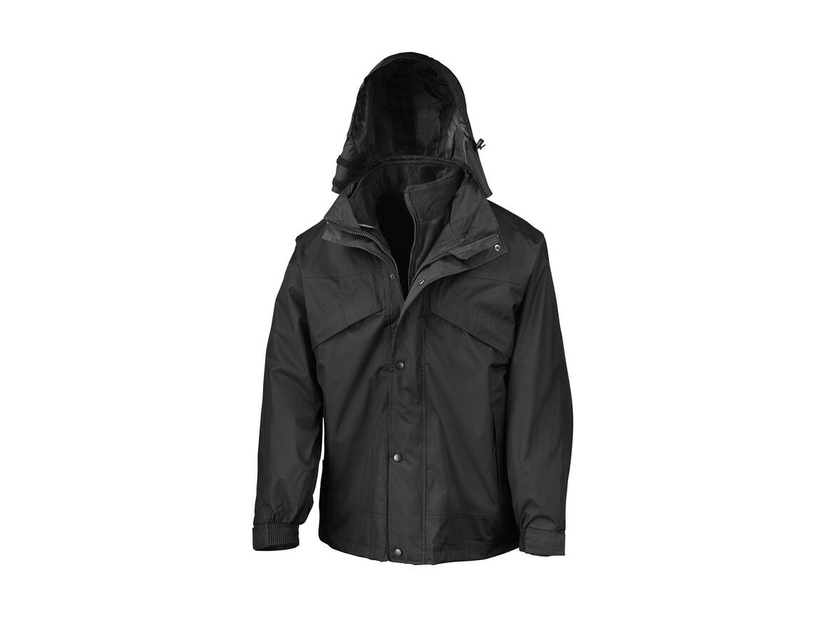 Result 3-in-1 Jacket with Fleece, Black, XS bedrucken, Art.-Nr. 411331012