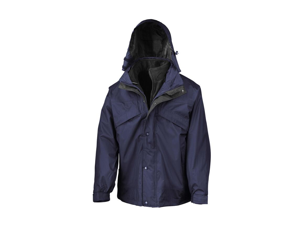 Result 3-in-1 Jacket with Fleece, Navy, XS bedrucken, Art.-Nr. 411332002