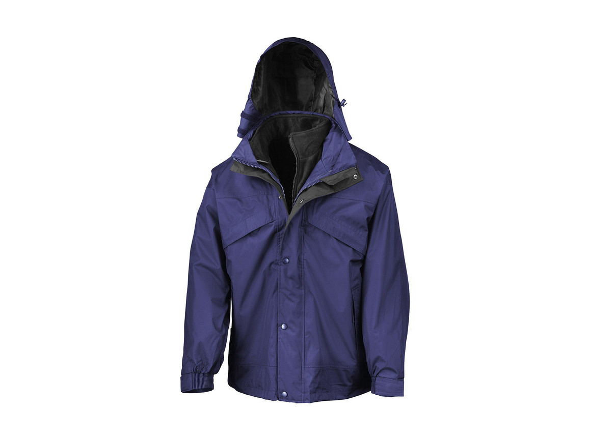Result 3-in-1 Jacket with Fleece, Royal, L bedrucken, Art.-Nr. 411333005