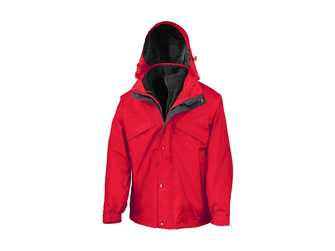 Result 3-in-1 Jacket with Fleece, Red, XS bedrucken, Art.-Nr. 411334002
