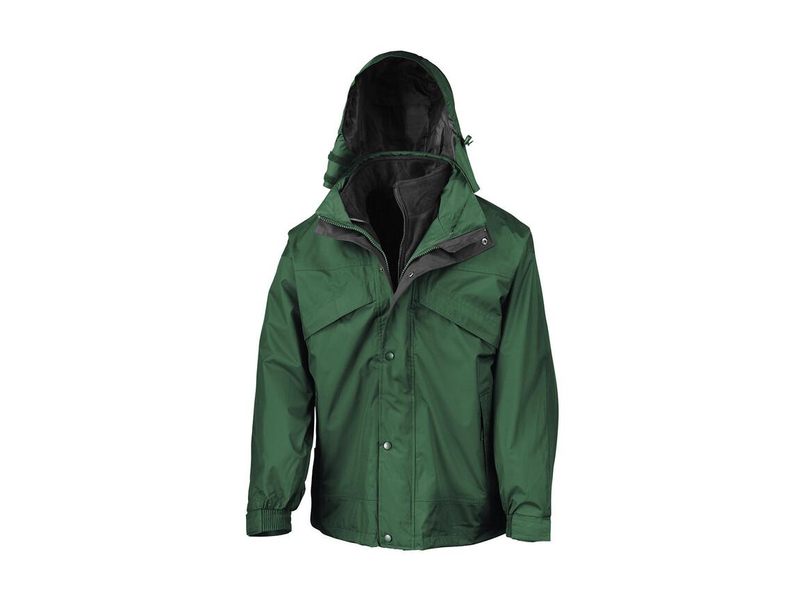 Result 3-in-1 Jacket with Fleece, Bottle Green, XS bedrucken, Art.-Nr. 411335402