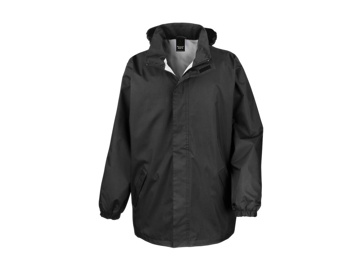 Result Core Midweight Jacket, Black, M bedrucken, Art.-Nr. 412331014