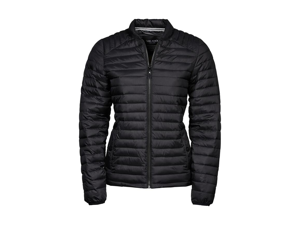 Tee Jays Ladies` Milano Jacket, Black, S bedrucken, Art.-Nr. 412541013