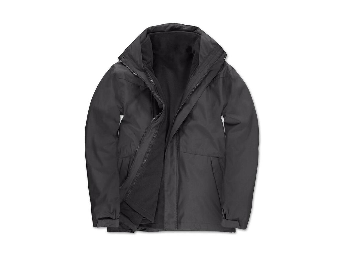 B & C Corporate 3-in-1 Jacket, Dark Grey, S bedrucken, Art.-Nr. 418421283