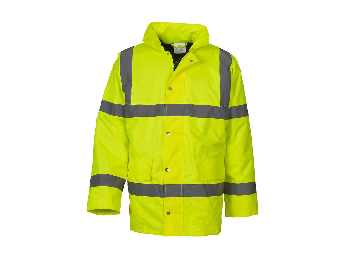 Yoko Fluo Classic Motorway Jacket, Fluo Yellow, 6XL bedrucken, Art.-Nr. 418776059