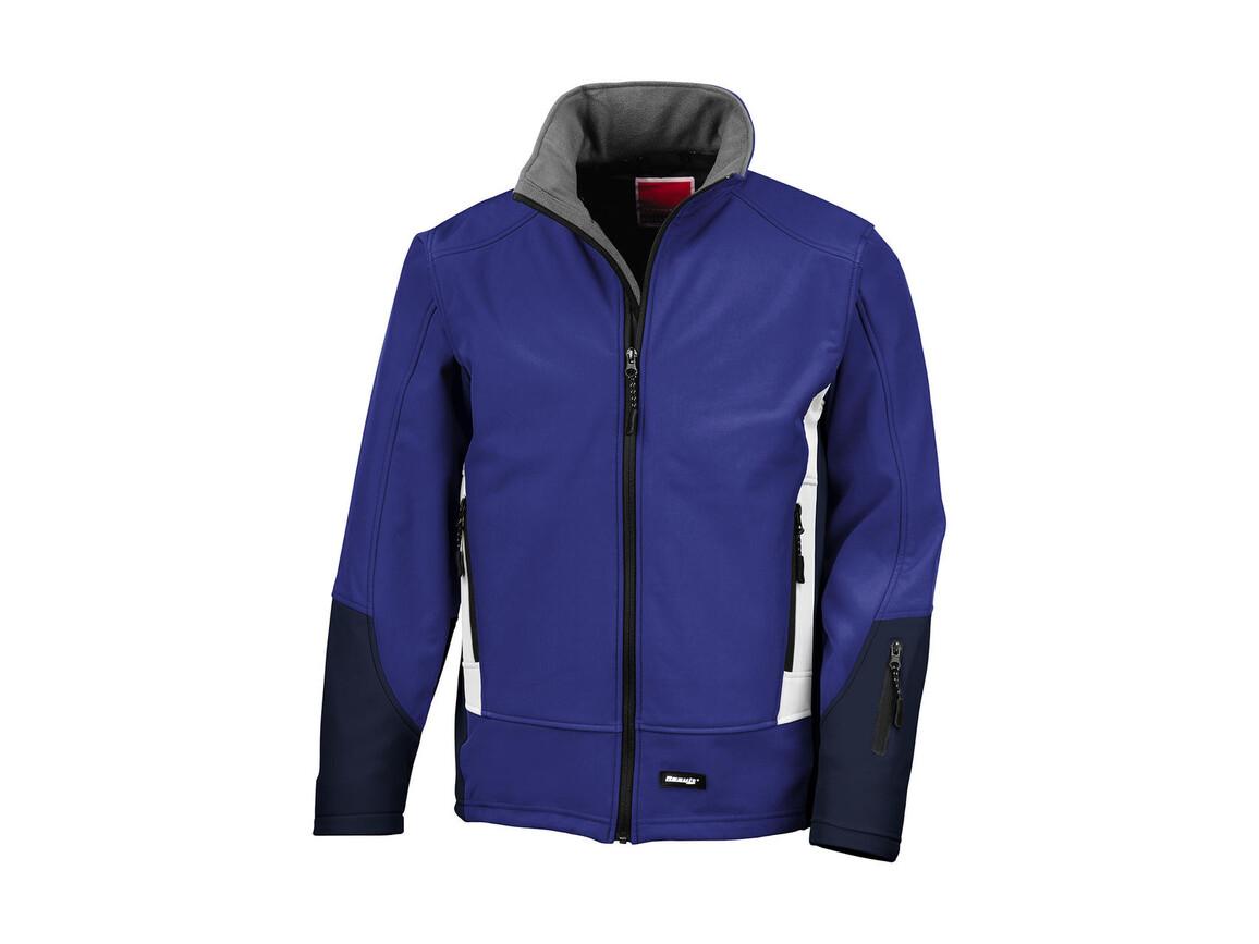 Result Blade Softshell Jacket, Royal/Navy/Pale Grey, 2XL bedrucken, Art.-Nr. 419333877
