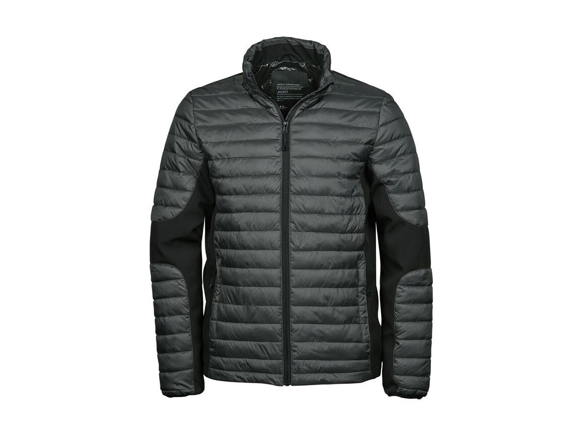 Tee Jays Crossover Jacket, Space Grey/Black, 3XL bedrucken, Art.-Nr. 421541708