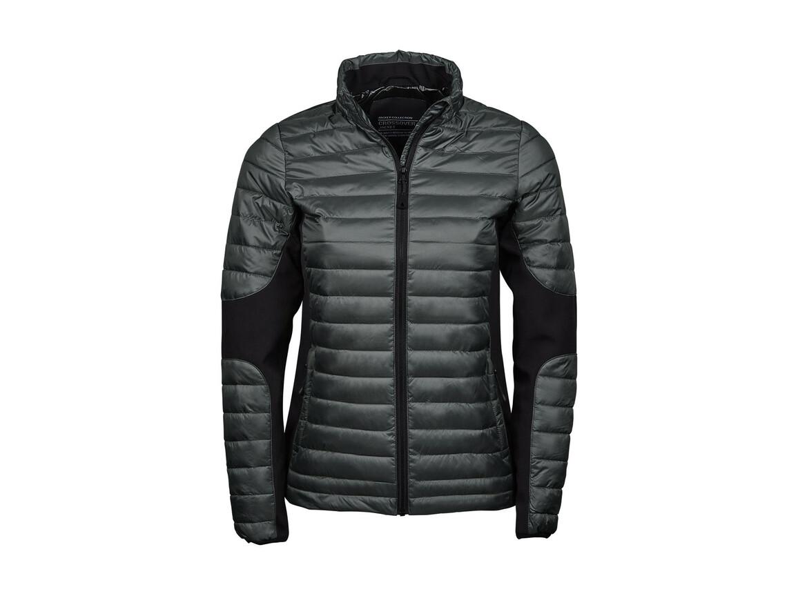 Tee Jays Ladies` Crossover Jacket, Space Grey/Black, 2XL bedrucken, Art.-Nr. 422541707