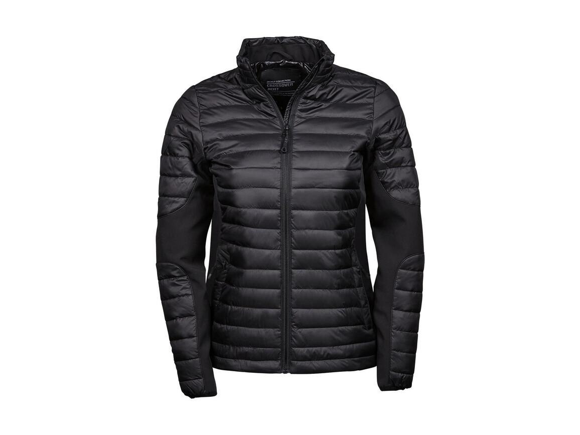 Tee Jays Ladies` Crossover Jacket, Black/Black, L bedrucken, Art.-Nr. 422541775