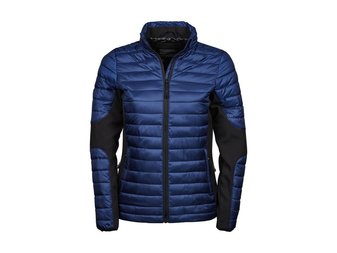 Tee Jays Ladies` Crossover Jacket, Navy/Black, S bedrucken, Art.-Nr. 422542703