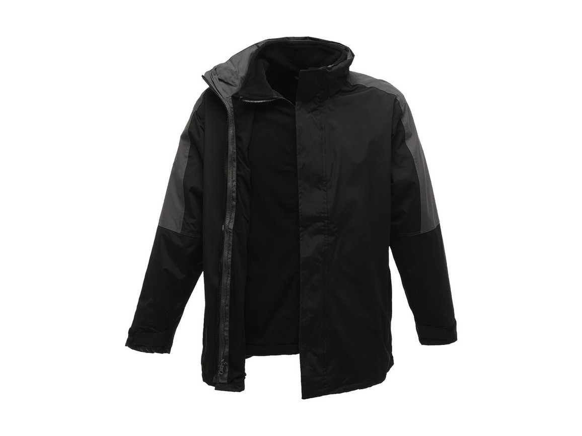 Regatta Defender III 3-In-1 Jacket, Black/Seal Grey, XL bedrucken, Art.-Nr. 423171516