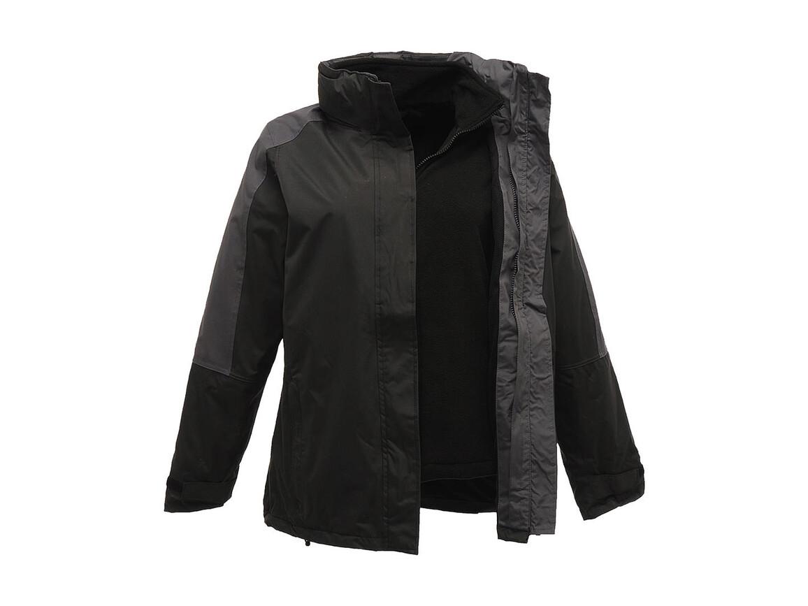 Regatta Ladies` Defender III 3-In-1 Jacket, Black/Seal Grey, 12 (38) bedrucken, Art.-Nr. 424171514