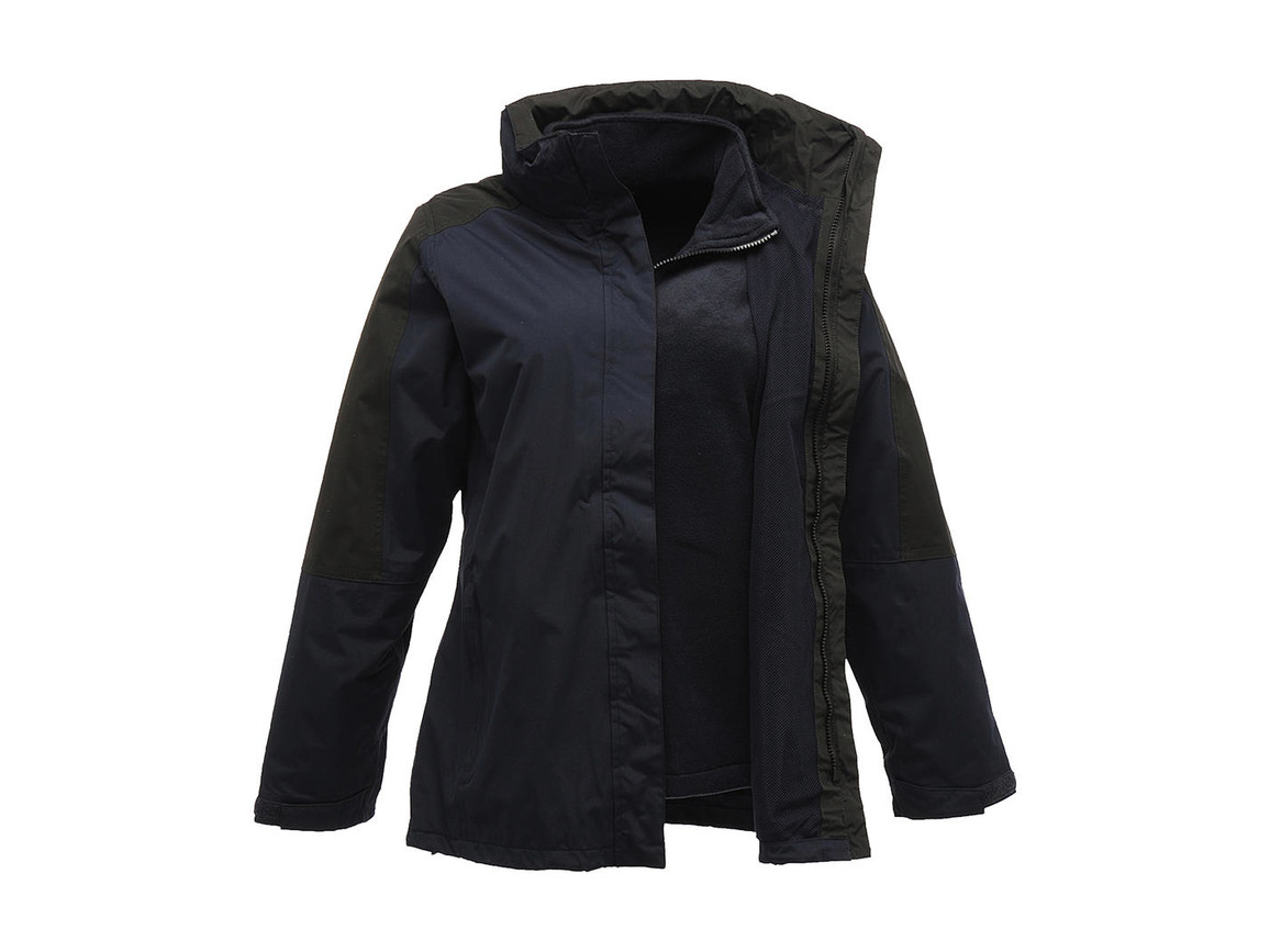 Regatta Ladies` Defender III 3-In-1 Jacket, Navy/Black, 16 (42) bedrucken, Art.-Nr. 424172406