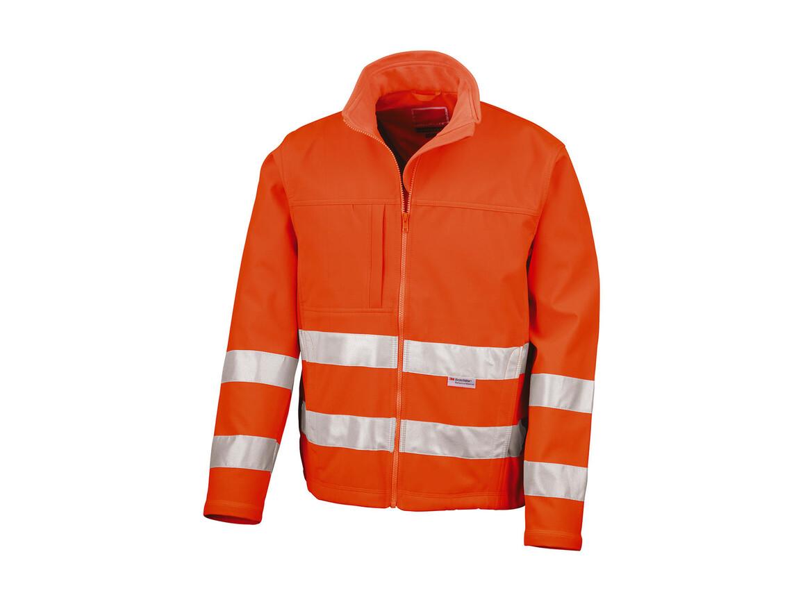 Result High-Viz Soft Shell Jacket, Fluorescent Orange, M bedrucken, Art.-Nr. 427334054
