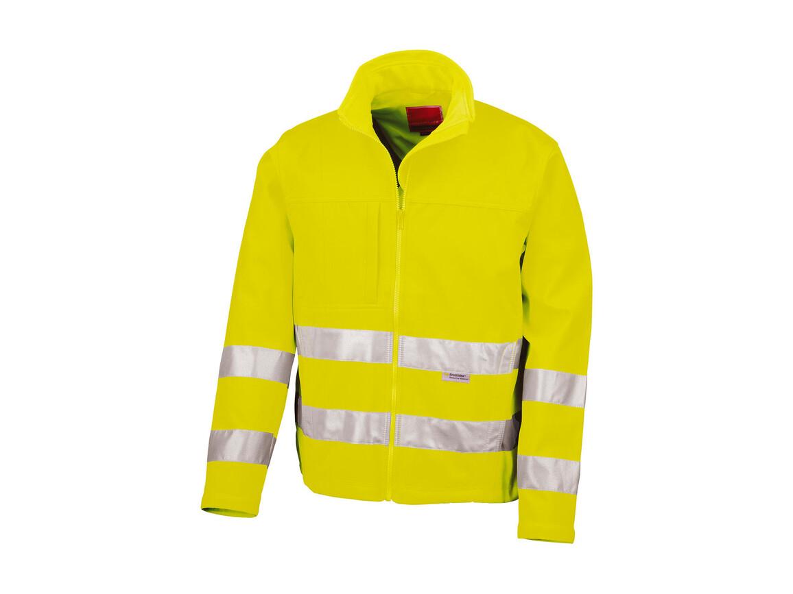 Result High-Viz Soft Shell Jacket, Fluorescent Yellow, S bedrucken, Art.-Nr. 427336053
