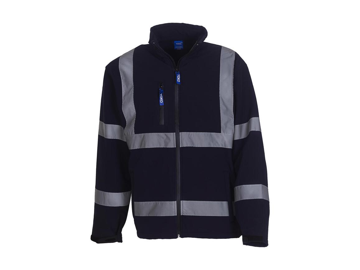Yoko Fluo Softshell Jacket, Navy, L bedrucken, Art.-Nr. 427772005