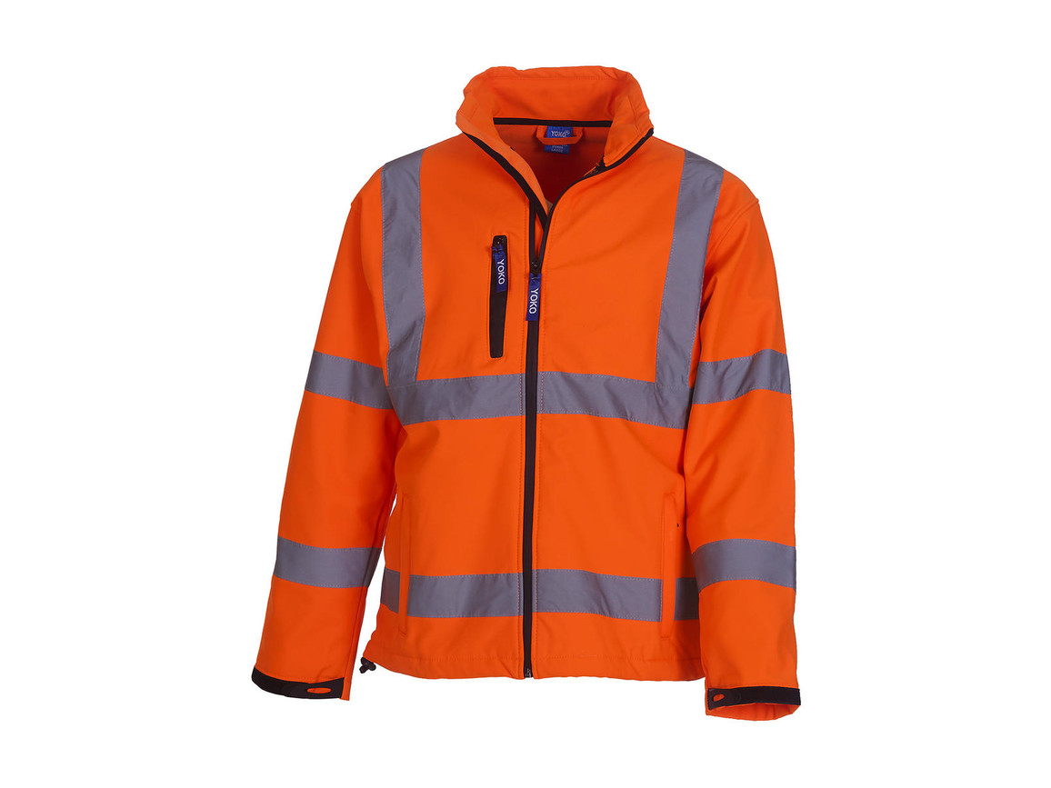 Yoko Fluo Softshell Jacket, Fluo Orange, 4XL bedrucken, Art.-Nr. 427774059