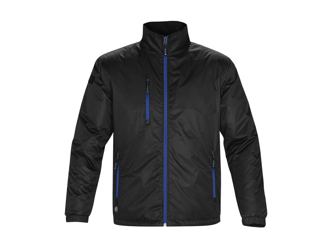 StormTech Axis Jacket, Black/Royal, XL bedrucken, Art.-Nr. 431181705