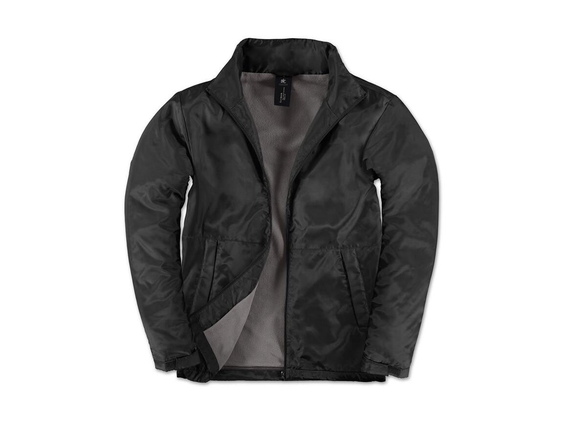 B & C Multi-Active/men Jacket, Black/Warm Grey, S bedrucken, Art.-Nr. 432421533