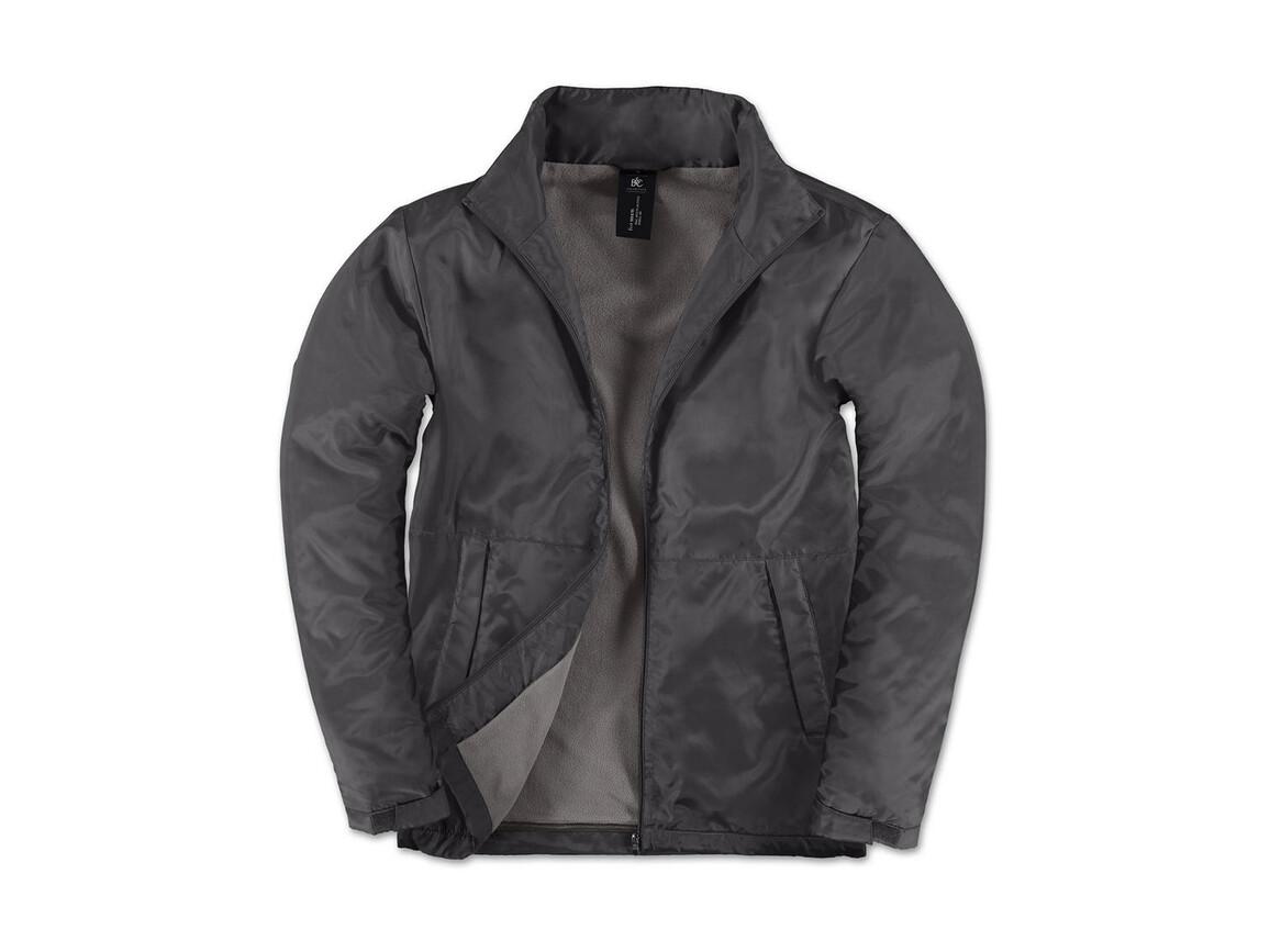 B & C Multi-Active/men Jacket, Dark Grey/Warm Grey, XL bedrucken, Art.-Nr. 432421616