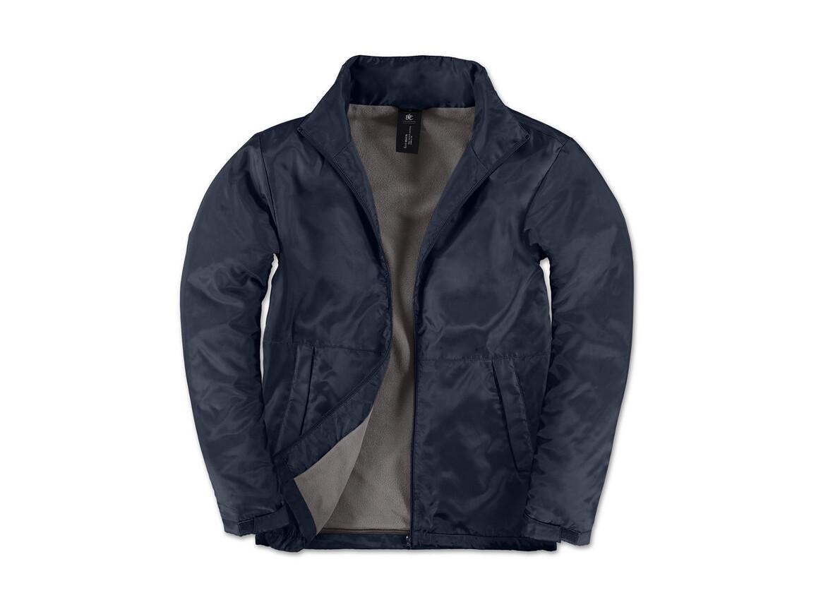 B & C Multi-Active/men Jacket, Navy/Warm Grey, L bedrucken, Art.-Nr. 432422555