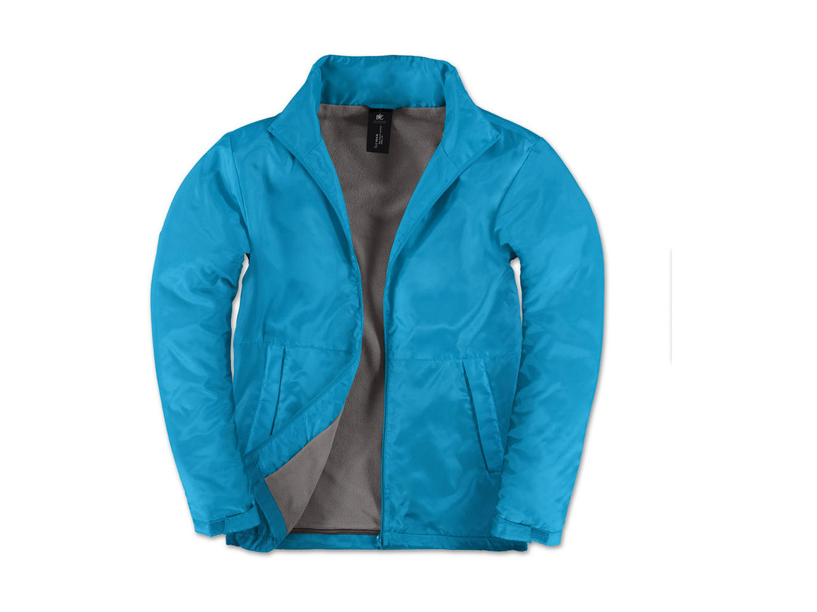 B & C Multi-Active/men Jacket, Atoll/Warm Grey, L bedrucken, Art.-Nr. 432423605