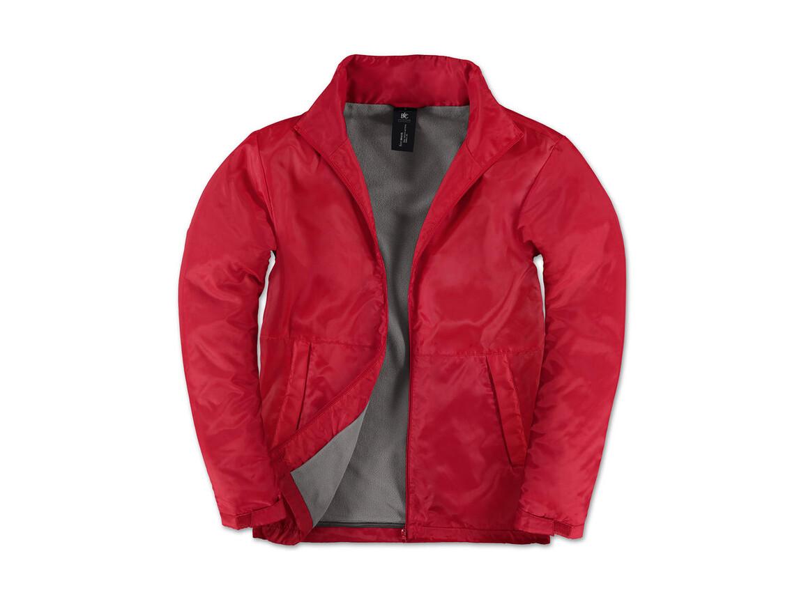 B & C Multi-Active/men Jacket, Red/Warm Grey, M bedrucken, Art.-Nr. 432424704