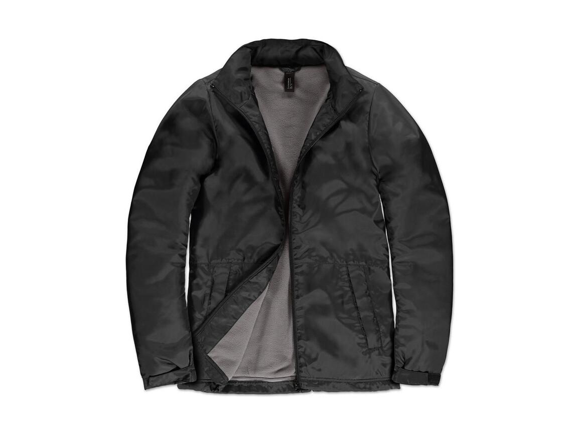 B & C Multi-Active/women Jacket, Black/Warm Grey, S bedrucken, Art.-Nr. 433421533