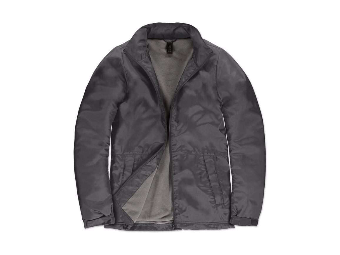 B & C Multi-Active/women Jacket, Dark Grey/Warm Grey, L bedrucken, Art.-Nr. 433421615