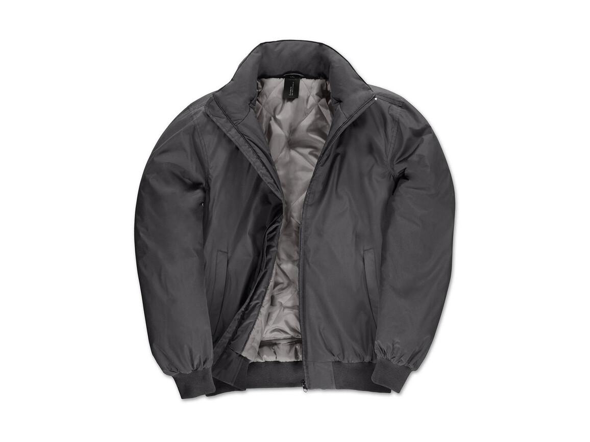 B & C Crew Bomber/men Jacket, Dark Grey/Warm Grey, XL bedrucken, Art.-Nr. 434421616