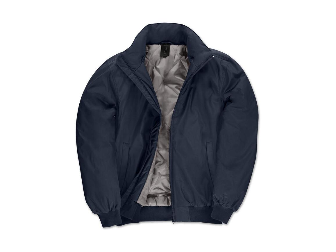 B & C Crew Bomber/men Jacket, Navy/Warm Grey, 2XL bedrucken, Art.-Nr. 434422557